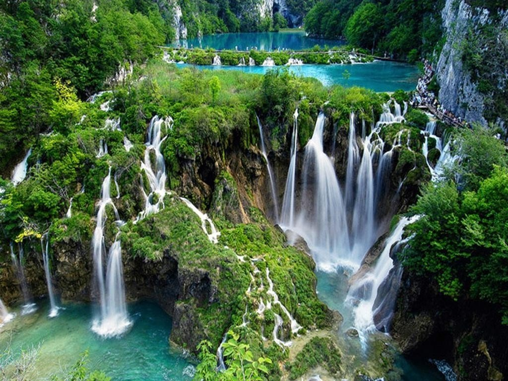 National park Plitvice lakes from Zagreb